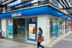Citibank branch in central Brisbane, Australia. Brisbane, Australia - July 9, 2017: Citibank is the consumer division of Citigroup. This branch is in central Stock Images
