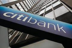 Citibank firma Imágenes de archivo libres de regalías
