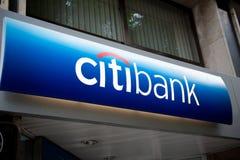Citibank - Hauptsitz Signage in Spanien Stockbild