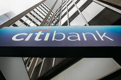 Citibank unterzeichnen Stockfotos