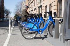 Citibike cykelaktie Arkivbilder