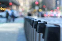 A CitiBike docking station. A CitiBike docking station in New York City Stock Images