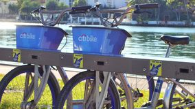 Citibike rental station Miami Beach stock video
