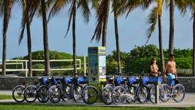 Citibike Rental Station Miami Beach 4k stock video