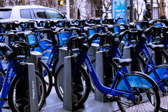 Citibikes i New York Royaltyfri Foto