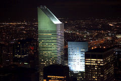 Citicorp Building Skyscraper New York City Night Stock Photo