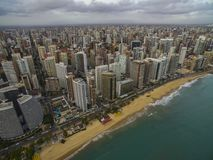 Cities of beaches in the world. City of Fortaleza, state of Ceara Brazil South America. Travel theme. Places to visit and remember royalty free stock image
