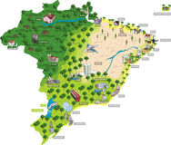 Cities of Brazil. royalty free illustration