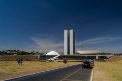 Cities of Brazil - Brasilia - Brazil's Capital. BRASILIA, BRAZIL - CIRCA MARCH 2015: Brazilian National Congress in Brasilia, Brazil royalty free stock images