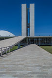 Cities of Brazil - Brasilia - Brazil's Capital. BRASILIA, BRAZIL - CIRCA MARCH 2015: Brazilian National Congress in Brasilia, Brazil stock images