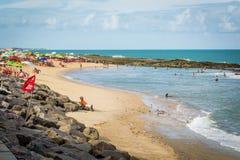 Cities of Brazil - Natal, RN. Ponta Negra Beach and Morro do Careca - Natal, Rio Grande do Norte, Brazil Stock Images