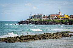 Cities of Brazil - Natal, RN. Ponta Negra Beach and Morro do Careca - Natal, Rio Grande do Norte, Brazil Stock Photo