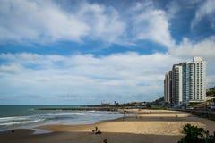 Cities of Brazil - Natal, RN. Ponta Negra Beach and Morro do Careca - Natal, Rio Grande do Norte, Brazil Stock Image