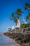 Cities of Brazil - Recife. Recife, the state capital of Pernambuco, in northeastern Brazil, has one of the longest urban beaches in the world: the Boa Viagem Royalty Free Stock Image