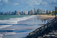 Cities of Brazil - Recife. Recife, the state capital of Pernambuco, in northeastern Brazil, has one of the longest urban beaches in the world: the Boa Viagem stock photo
