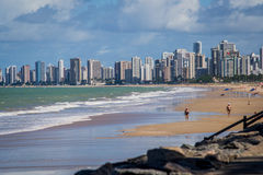 Cities of Brazil - Recife. Recife, the state capital of Pernambuco, in northeastern Brazil, has one of the longest urban beaches in the world: the Boa Viagem royalty free stock photos