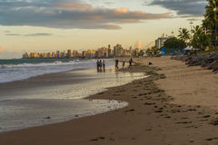 Cities of Brazil - Recife. Recife, the state capital of Pernambuco, in northeastern Brazil, has one of the longest urban beaches in the world: the Boa Viagem Stock Photography