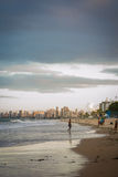 Cities of Brazil - Recife. Recife, the state capital of Pernambuco, in northeastern Brazil, has one of the longest urban beaches in the world: the Boa Viagem stock images