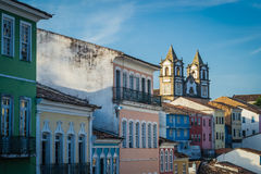 Cities of Brazil - Salvador, Bahia. Salvador, the state capital of Bahia, in northeastern Brazil, is one of the largest cities in the country, and is located in royalty free stock images