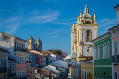 Cities of Brazil - Salvador, Bahia. Salvador, the state capital of Bahia, in northeastern Brazil, is one of the largest cities in the country, and is located in Royalty Free Stock Photos