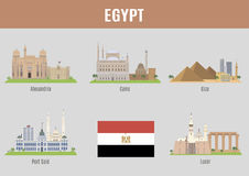 Cities of Egypt Royalty Free Stock Photos
