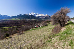 Between the cities Gap and Grenoble, France Royalty Free Stock Images