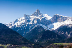 Between the cities Gap and Grenoble, France Royalty Free Stock Image