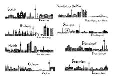 8 cities of Germany Stock Images