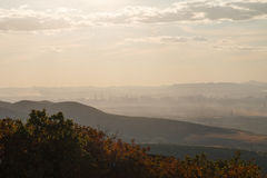 Cities in haze Royalty Free Stock Photography
