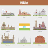 Cities of India. For you design Stock Photo
