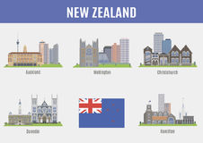 Cities in New Zealand Stock Photo