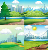 Cities and parks Stock Photo