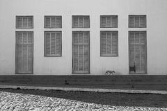 Windows and Doors in Oeiras, Piaui, Brazil royalty free stock photography