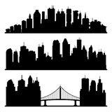 Cities silhouette. Royalty Free Stock Photos