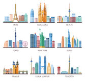 Cities Skylines Icons Set Royalty Free Stock Photo