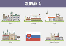 Cities in Slovakia Stock Image