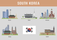 Cities in South Korea Stock Image