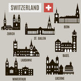 Cities in Switzerland Royalty Free Stock Image
