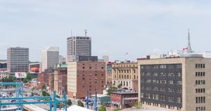 Saint John, New Brunswick - JULY 30, 2019: Architecture, famous buildings and landmarks of the Canadian province