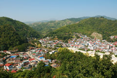 Cities in Valley. At Thailand Stock Photography