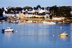 Cities and villages of Brittany: Sainte Marine Royalty Free Stock Photography