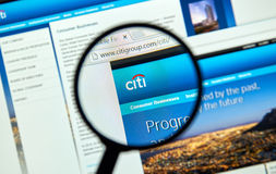 Citigroup web page Royalty Free Stock Photography