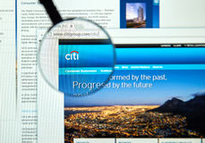 Citigroup web page Royalty Free Stock Images