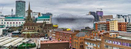 Citiscape του κέντρου της πόλης του Μπέρμιγχαμ στοκ φωτογραφίες