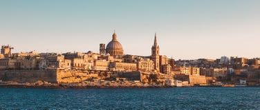Citiscape classificado cinemático de Valletta, Malta Imagens de Stock Royalty Free