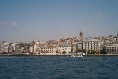 Citiscape d'Istanbul avec la tour de Galata images libres de droits