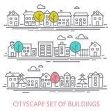 CITISCAPE SET Royalty Free Stock Photography