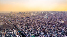 Citiscape of Tokyo at sunset, Japan Royalty Free Stock Photo