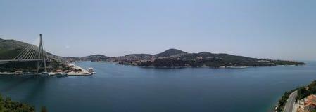Citiscape: vista panoramica beautful del coasline immagini stock