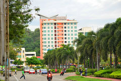 Cititel明确门面在亚庇,马来西亚 免版税库存图片